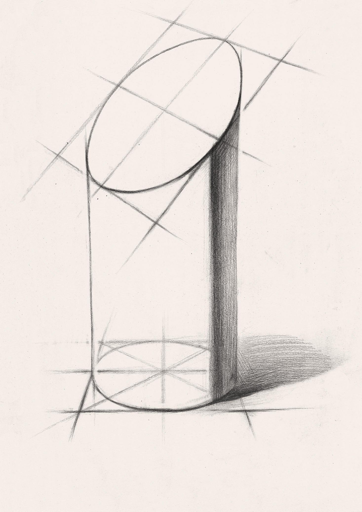 几何石膏素描