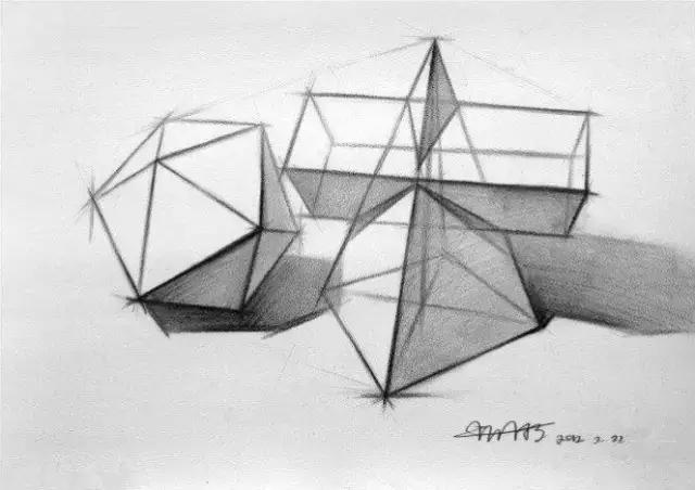 石膏几何形体之圆柱体的画法